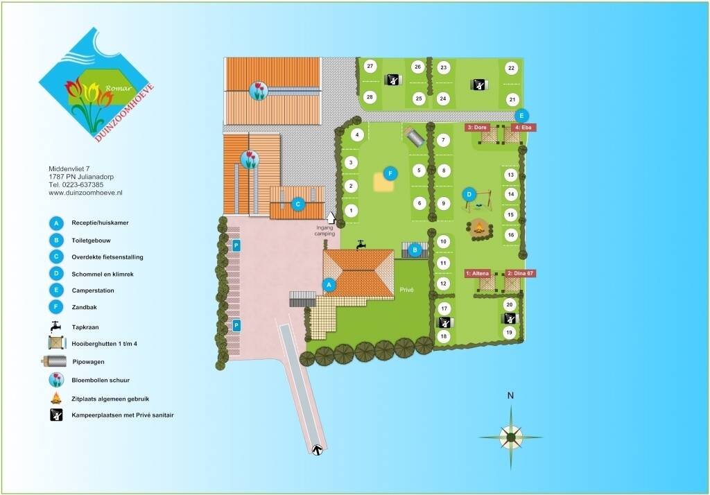 Camping map photo of Camping Duinzoomhoeve - Svr
